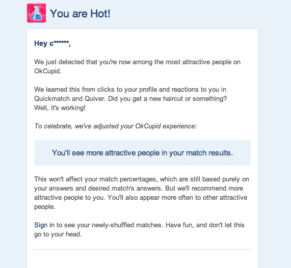 okcupid you are hot