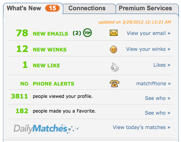 Profile hidden match com